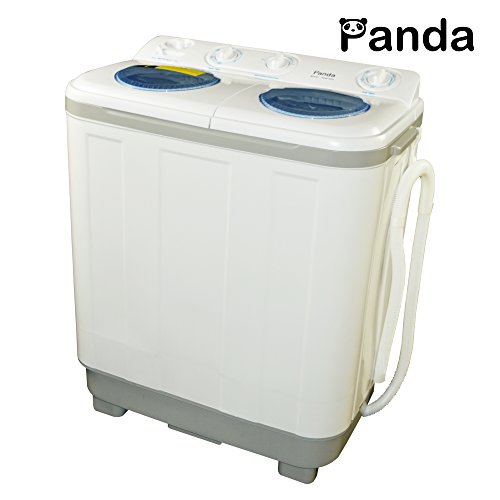 New Version Panda Small Compact Portable Washing Machine (15 lbs Capacity) with Spin Dryer -Larger Size, Built in Pump (Small Compact Washing Machine compare prices)