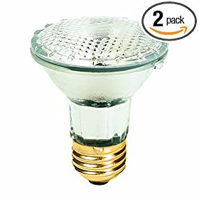  Feit Electric 50PAR20/QFL/MP/2 50-Watt Halogen Flood Reflector Bulb, 2 Pack