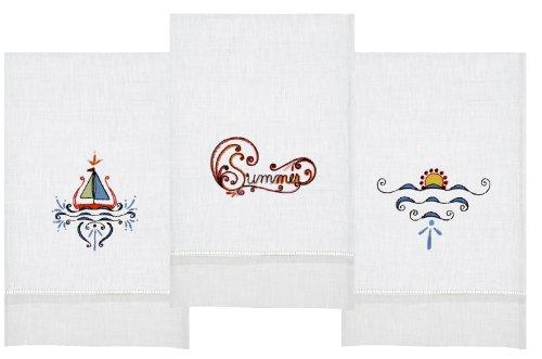 Sail Away Sunset Tea Towel Set Of 3