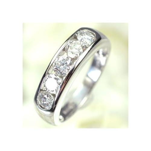 [キュートジュエリー]Cute jewerly ダイヤモンド 指輪 プラチナ ダイヤモンド1.0ct 一文字リング 8