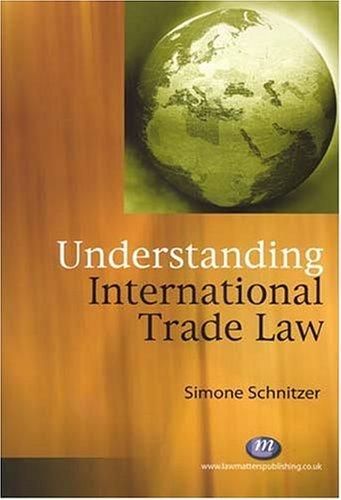 Understanding International Trade Law (Law Matters)