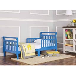 Dream On Me Sleigh Toddler Bed, Wave Blue