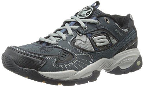 Skechers Men's Sparta Lace-Up Sneaker,Navy/Black,10.5 M US