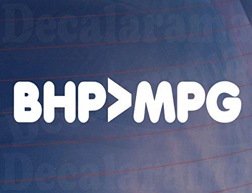 BHP > MPG Funny Neuheit Witz Vinyl Auto/Van/Fenster/Bumper Sticker/Aufkleber