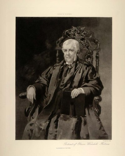 1896 Oliver Wendell Holmes Portrait Sarah W. Whitman - ORIGINAL PHOTOGRAVURE - Original Photogravure