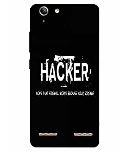 Make My Print Hacker Slogan Printed Black Hard Back Cover For Lenov Vibe K5 Plus