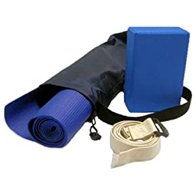 410R3VDw1AL. AA280  Yoga Kit For Beginners and Intermediates   Mat, Foam Block, Strap, Mat Bag