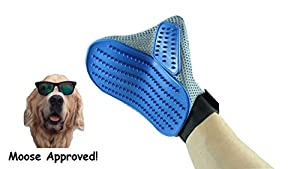 Dog & Cat Grooming Brush Glove ( 2 PACK ) - Removes Long and Short Hair With A Massage