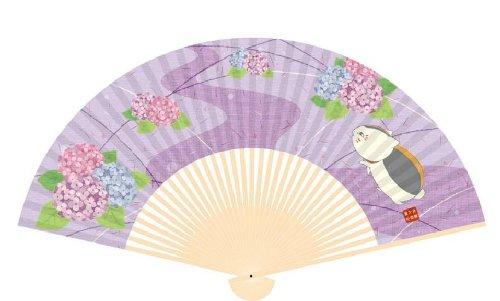 夏目友人帳 扇子 紫陽花