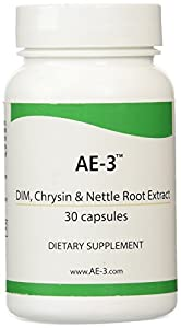 Chrysin with DIM & Stinging Nettle Root Extract - AE-3 - Natural Aromatase Inhibitor & Estrogen Blocker for Men - with Piperine for Enhanced Absorption - 30 Capsules
