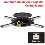 Cmple - Slim Adjustable Aluminium Ceiling Mount With Anti-theft For Projector With Max Weight 44 Lbs
