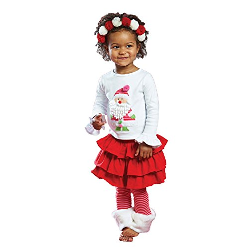 Mud Pie Santa Baby Skirt Set front-543305