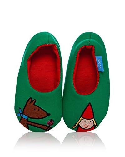 Dolca Zapatillas de estar por casa Verde