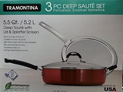 Tramontina 3 Piece Deep Saute Set w/ Lid & Splatter Screen