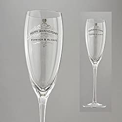 Enesco Insignia from Eneso Happy Anniversary Glass, 10.375 , Clear