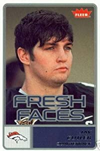 2006 Fleer Fresh Faces #FRJC Jay Cutler (RC) - Denver Broncos - Rookie Card (RC) / New Orleans Saints / NFL Football Cards - In Protective Case - Sports Trading Cards Collecting