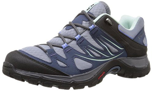 Salomon Women's Ellipse Aero W Hiking Shoe, Stone Blue, 7.5 B US