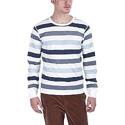 Zobello Men's Sweatshirt (21014B_Grey Nautical_Large)