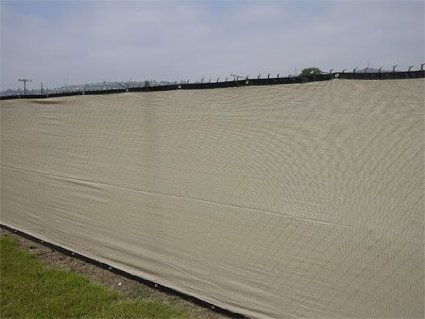 Aleko 6 x 50 feet beige fence privacy screen outdoor for Garden screening fabric