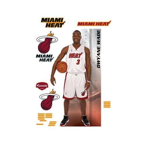 NBA Miami Heat Dwyane Wade Growth Chart Wall Graphic Fathead Wall Pediments autotags B005HQENMI