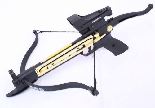 80lbs Self Cocking Cobra Crossbow 15 Arrows Scope Metal