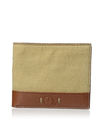 Maker & Company Men's Washed Canvas Bifold Wallet, Tan