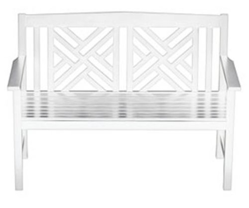 Achla Designs OFB-10W Fretwork Bench White