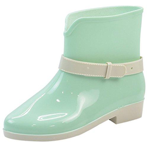 veste-impermeable-en-caoutchouc-jelly-bottes-de-pluie-boucle-cheville-haute-pluie-chaussures-m-green