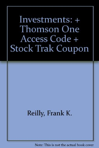Investments: + Thomson One Access Code + Stock Trak Coupon
