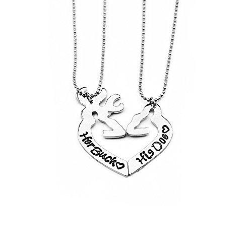 her-buck-his-doe-elk-pendant-necklace-Set2PCS