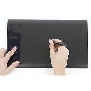 KINGSIR USB ペンタブレット 1060P 11.6インチ 筆圧2048レベル 右利き左利き両対応 3ヶ月保障付 CLIP STUDIO SAI Photoshop 対応