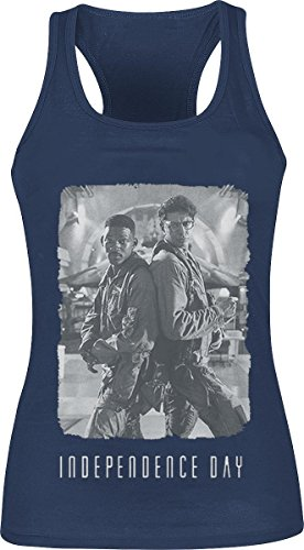Independence Day Back 2 Back Cover Top donna blu XL