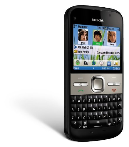 Nokia E5-00 Unlocked GSM Phone with Easy E-mail Setup, IM, QWERTY, 5 MP Camera, Ovi Store with Apps, and Free Ovi Maps Navigation (Black)