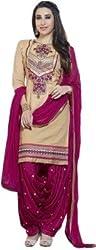 Sinina Cotton Patiala Embroidered Salwar Kameez Suit UnStitched Dress Material