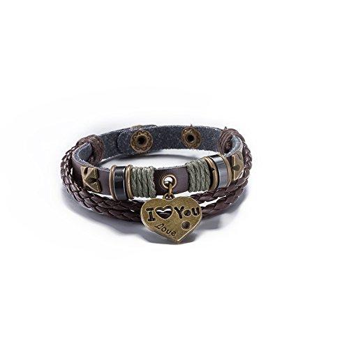 Surfing Man braccialetto braccialetto braccialetto bracciale in pelle braccialetto avvolgente regolabile tessuti a mano retrš° uomini