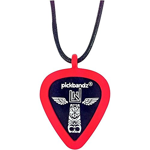 Pickbandz Necklace Silicone Pick Holder - Rockin' Red