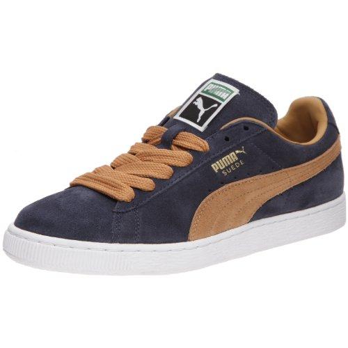 Puma - Sneaker 350734-68 Unisex - adulto, Blu (Marine/Pomme-Canelle), 40
