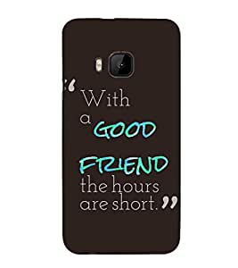 EPICCASE good friend Mobile Back Case Cover For HTC One M9 (Designer Case)