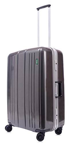 lojel-superlative-frame-polycarbonate-medium-upright-spinner-luggage-grey-one-size