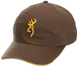 Browning 3D Buckmark Cap, Brown/Gold, Semi-Fitted