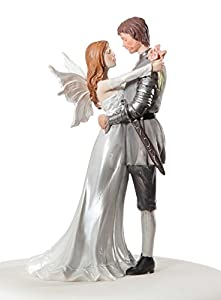 Fantasy Fairy Bride and Groom Wedding Cake Top Topper Figurine