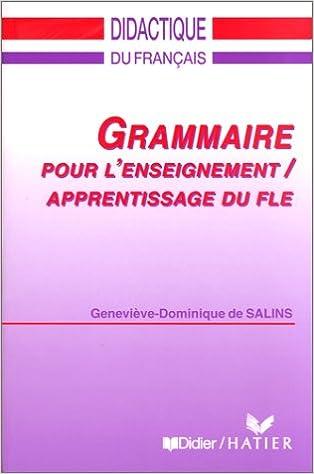 Grammaire pour l enseignement- apprentissage du FLE
