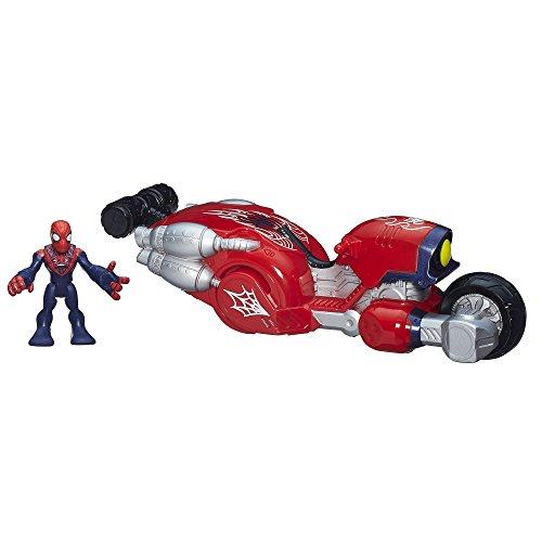 Playskool Heroes Marvel Super Hero Adventures Web Wheelin Bike Ultimate Spiderman Toy - 1