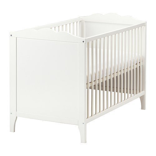 IKEA-verstellbares-Babybett-Hensvik-Bettchen-in-60x120cm-Gitterbett-aus-massiver-Birke-hhenverstellbar-erfllt-EN-716-1