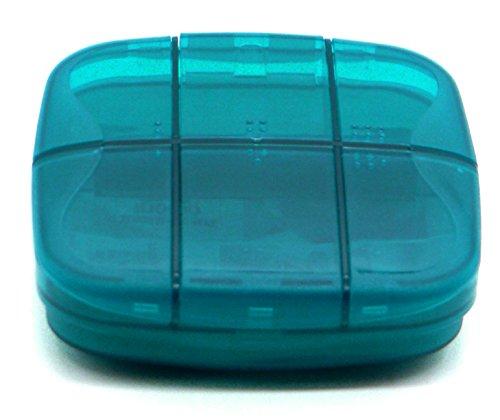 putwo-pill-box-deep-pill-case-durable-multifunctional-organiser-blue