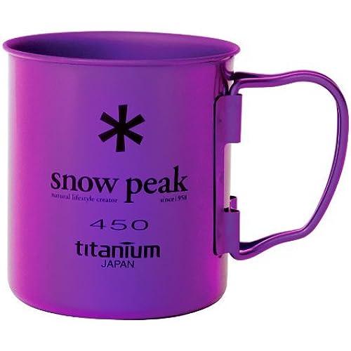 [스노우피크 머그컵] 스노우피크(snow peak) 컬러 티타늄(티탄) 싱글 머그 450 (퍼플)