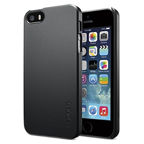 【Spigen】 iPhone SE ケース, シン ・フィット [ パーフェクト フィット ] アイフォン se / 5s / 5 用 (iPhone SE/5S/5, ブラック)