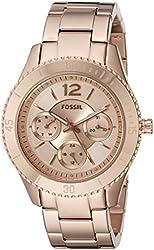 Fossil Women's ES3815 Stella Multifunction Stainless Steel Watch - Rose