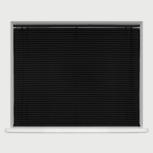 EASYFIT BLACK PVC Venetian blind * AVAILABLE IN WIDTHS 45 cm to 210cm * BLINDS ALSO AVAILABLE IN CREAM AND WHITE...