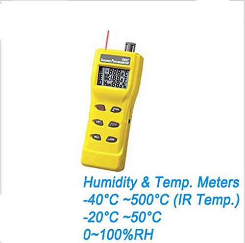 GOWE 3 In 1 Digital Infrared Thermometer with Hygrometer and Temperature Tester